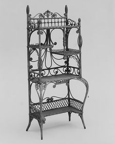 Étagère Heywood Brothers And Wakefield Company (1897u20131921) Date: 1897u20131905.  WakefieldWicker FurnitureGardner MassachusettsNew ...