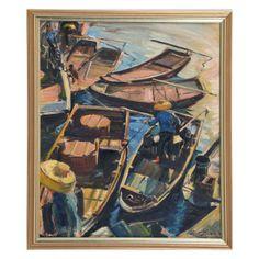William Franklin Draper, Painting, Boats : Lot 353 - $500
