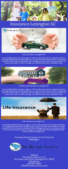 Our Insurance Agency seeks to provide you with the product knowledge and service you deserve, whether your concerns involve your auto insurance, home insurance, boat insurance or business insurance in Lexington SC. http://ricardinsurance.com/