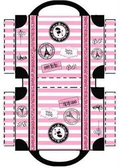Cajas - Maria Maria - Picasa Web Albums: Plus Paris Party, Paris Theme, Doll Crafts, Diy Doll, Printable Box, Printables, Paper Toys, Paper Crafts, Kalender Design