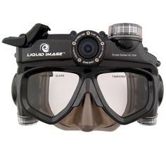 The XSC Wide Angle Scuba Series is an underwater video camera built into a dive mask for hands-free underwater photography and safer swimming, snorkeling, and scuba diving.