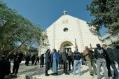Catholic church told to evacuate ahead of bombing.
