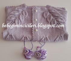 MERHABALAR,     Geçtiğimiz yıllarda bu modelden kızıma Turkuvaz Hırka  örmüştüm. (Tıklayarak hırkayı görebilirsiniz.) Çok sevdiğim Yapraklı... Baby Knitting Patterns, Baby Patterns, Baby Dress, Lana, Throw Pillows, Sweaters, Crafts, Dresses, Fashion