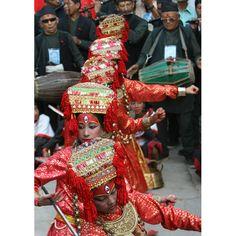 Living goddesses: Young girls take part in the Kumari Puja festival in Kathmandu, Nepal