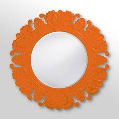 Find it at the Foundary - Custom Color Anita Mirror - 44 diam. in. - Glossy Orange