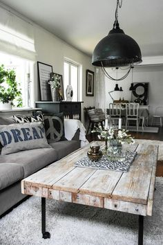 Are you looking for inspiration for farmhouse interior? Check this out for unique farmhouse interior ideas. This amazing farmhouse interior ideas appears to be entirely terrific. Living Room Lighting, Living Room Decor, Living Rooms, Apartment Living, Rustic Apartment, Decor Room, Living Area, Design Scandinavian, Muebles Living