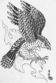 Japanese Hawk Tattoo | Главная Наши TATTOO работы Эскизы TATTOO ...