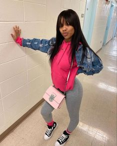 Teenage Girl Outfits, Teen Fashion Outfits, Teenager Outfits, Fashion Ideas, Pretty Outfits, Cute Outfits, Matching Outfits Best Friend, Black Hairstyles With Weave