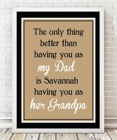 'My Dad, Her Grandpa...' Personalized Print #zulily #zulilyfinds