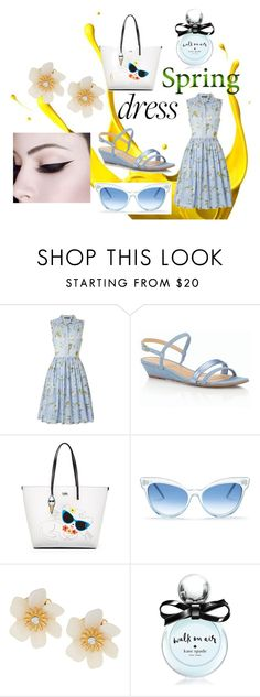 """""""#springdress"""" by petra-blefluf ❤ liked on Polyvore featuring French Connection, Talbots, Karl Lagerfeld, Wildfox, Lydell NYC, Kate Spade and springdress"""