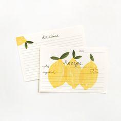 Lemon Recipe Card 12 Pack
