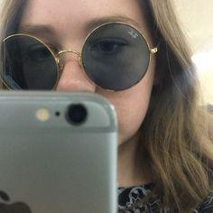 Sunglass Hut, Sunnies, Round Sunglasses, Lenses, Gold, Sunglasses, Round Frame Sunglasses, Shades, Yellow
