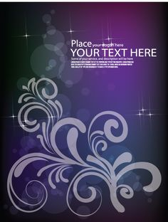 Floral Text Background Free Vector - http://www.dreamstock.net/floral-text-background-free-vector/