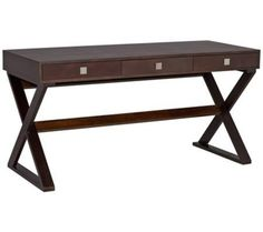Emilio Contemporary Wenge Desk | 55DowningStreet.com