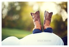 Pregnancy Photo with boots.   Too cute if I ever start showing!