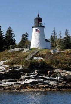 Burnt Island Lighthouse. Boothbay, ME.