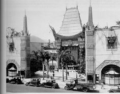 Grauman's Chinese Theater in 1926. Sid Grauman, a failed prospector during the California Gold Rush opened a series of successful theaters in the 20's in Los Angeles; this being his second.  #piel #shoppiel #inspiration