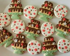Pretty Cake Stand Cookies