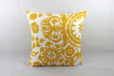 SALE ENDS SOON!!!  Pillow Covers 18x18 - Yellow Throw Pillow Cover - Yellow Accent Pillow Cover 0017