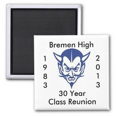 BlueDevil, Bremen High 30 Year Class Reunion Fridge Magnets, $3.65, zazzle.com