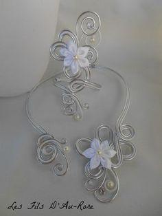 Parure mariage ARIELLE 2 pièces avec collier et bracelet