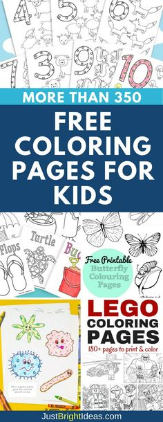 Free Coloring Pages for Kids to Color: So many original designs for you to print for your kids to color. Includes Frozen, Superheroes and LEGO pages!