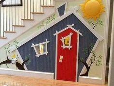 Huisje onder de trap. Hoe leuk is dat!