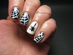 Spider's Web Nail Art