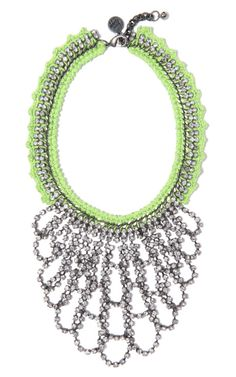 Venessa Arizaga Green Lightning Necklace at Moda Operandi