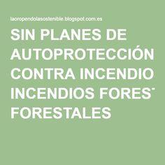 SIN PLANES DE AUTOPROTECCIÓN CONTRA INCENDIOS FORESTALES