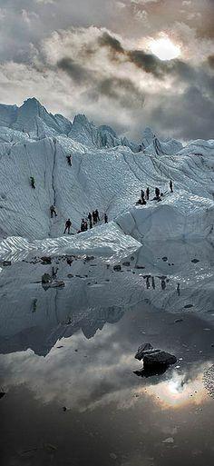Ice Climbers . Alaska