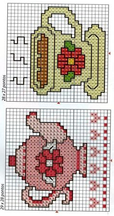 Cross Stitch Geometric, Tiny Cross Stitch, Cross Stitch Kitchen, Cross Stitch Bookmarks, Cross Stitch Heart, Cross Stitch Cards, Cross Stitch Embroidery, Cross Stich Patterns Free, Cross Stitch Pattern Maker