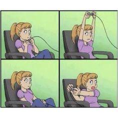 How girls play video games!  So true!! Lol!