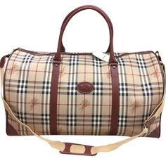 46b8650f958 Two Way Weekender Travel Extra Large Brown Canvas Leather Weekend Travel Bag
