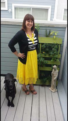 Lola Skirt, striped shirt  - FUN!  Join my shopping group!  LuLaRoe Erin Woolley -   https://www.facebook.com/groups/1047818405280065/