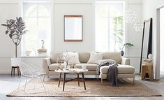 cream rug, sofa, natural woods - add mexican stripe or navajo/aztec throw pillows and/or chair