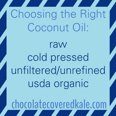 Choosing The Right Coconut Oil