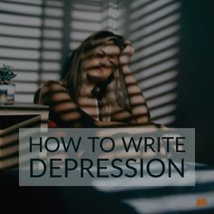 #Writing about #depression helps to increase awareness and make those suffering to feel less alone. Discover how to write about it in this post.