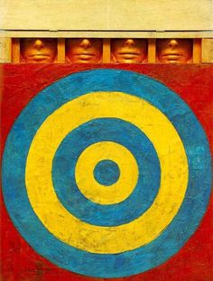 Famous Artist Birthdays! Happy Birthday Jasper Johns, born on May 15th in 1930! Johns was born in Augusta, Georgia and spent most of his youth growing up in rural South Carolina.  Target with Four Faces, 1958 by Jasper Johns 20th Century Masterworks available for purchase through Robin Rile Fine Art Contact info@robinrile.com