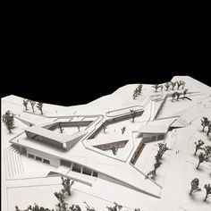 nexttoparchitects:by @laboratorio_de_lineas #next_top_architects Colegio de… Museum Architecture, Architecture Drawings, Concept Architecture, Landscape Architecture, Architecture Design, Folding Architecture, Parque Linear, Arch Model, Small Buildings