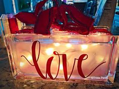How to make these pretty Valentine decorative glass blocks.