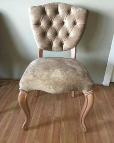 Athena Chair, soft touch fabric, hand made massive leg design.