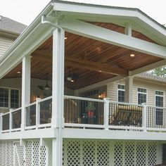 Trex Deck with Hip Roof, and Grill bump out | Amazing Decks ...