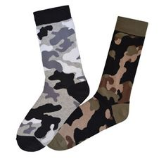 Camo Socks Set Of 2, $15, now featured on Fab.