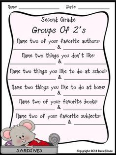 Second-Day-In-Second-Grade-Unit-A-Back-To-School-Packet-For-2nd-Grade-272189 Teaching Resources - TeachersPayTeachers.com