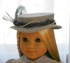 American Girl Doll Clothes - Doll Hat - Morning Mist
