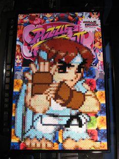 Perler Super Puzzle Fighter 2 Turbo (Ryu) by Dlugo1975