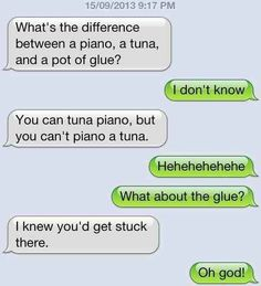 The dad joke text.