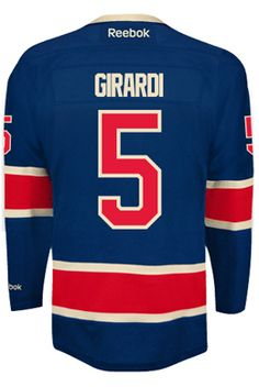 New York Rangers Dan GIRARDI  5  A  Official Third Reebok Premier Replica  Adult CoolHockey 0c2c781ee