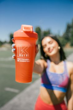 """Shaker Bottles are perfect for mixing your BCAAs, favorite protein shake, or even as a sturdy water bottle. Featuring the K Nutri logo and our motto """"Stay Focused x Be Consistent"""" Gym Bottle, Wire Whisk, Blender Bottle, Workout Essentials, Shaker Bottle, Nutrition Shakes, Stay Focused, Weight Loss Supplements, Protein Shakes"""